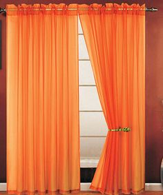 Orange Allegra Curtain