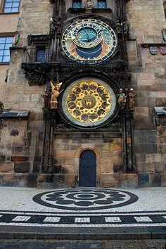 Astronomical clock, the Old town, Prague Czech Republic by Jim Zuckerman