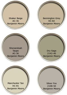 Benjamin Moore neutral color palette