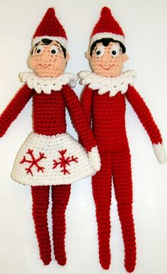 Make Your Own: FREE Elf on the Shelf Doll Crochet Pattern