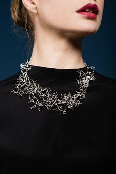 """Leaf"" by Malin Ohlsson. The jewellery collection in gold and silver consists of different types of leaves picked around Hong Kong."