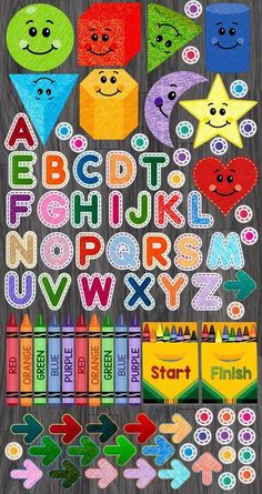 Can you imagine your school hallway or your activity room filled with these colorful shapes and letters? Kindergarten Sensory, Sensory Activities, Sensory Play, Learning Activities, Preschool, Floor Decal, Floor Stickers, Sensory Pathways, Hallway Flooring