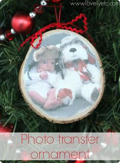 photo wood transfer ornament #christmas