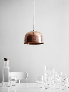 Find the timeless GM 30 pendant lamp made by the Danish designer Grethe Meyer for Menu, available in the home design shop. Design3000, Verre Design, Interior Styling, Interior Design, Copper Lighting, Rustic Lighting, Design Furniture, Danish Furniture, My New Room