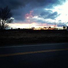 Sunset in Athol, MA  1/31/2013  @Sheryl Bourret Skinner