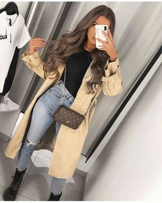 Trench Coat Outfit For Spring #trench #trenchcoat #womanfashion #fashionactivation #fashiontrends