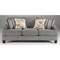 Yvette Steel Sofa ($398) ❤ liked on Polyvore featuring home, furniture, sofas, modern sofa, modern furniture, steel sofa, mod furniture and steel furniture