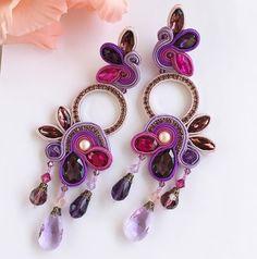 Posted by Brusilla Boho Jewelry, Beaded Jewelry, Jewelery, Jewelry Design, Fashion Jewelry, Soutache Necklace, Tassel Earrings, Ring Earrings, Shibori