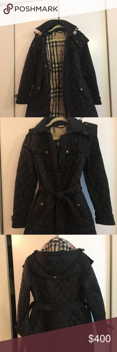 Burberry Brit Jacket Great condition! Selling bc I need a larger size. Burberry Jackets & Coats Trench Coats