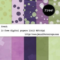 Fresh - Freebie paper pack of the day