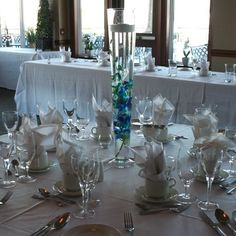W Flowers product: Blue Orchid Wedding Centerpiece