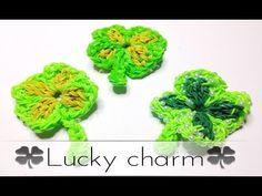 Rainbow Loom Glücksbringer Klee - lucky charm clover ( EN SUB) - YouTube