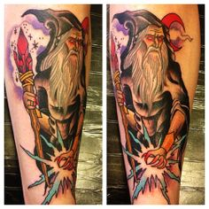 Wizard tattoo by Kasper #traditionaltattoo #allstartattoo