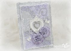 My Little Craft Things: Wedding Card, Rose Video and Exciting News Rose Video, Shabby Chic Cards, Rose Tutorial, Exciting News, Heart Cards, Scrapbooking Layouts, Hello Everyone, Craft Things, Scrapbooks