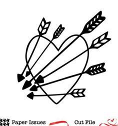 Heart & Arrows Free Cut File