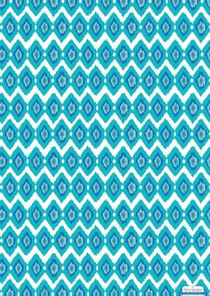 PD Blue Ikat Wrapping Paper