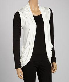 0ca204d7d5 Loving this Zenana Ivory Lace-Back Open Vest on  zulily!  zulilyfinds Lace