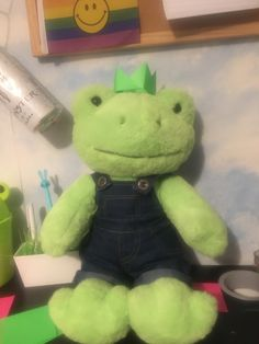 Frog Frog, Frog And Toad, Frog Pictures, Cute Frogs, Green Frog, Cute Stuffed Animals, Cute Teddy Bears, Build A Bear, Cute Little Animals