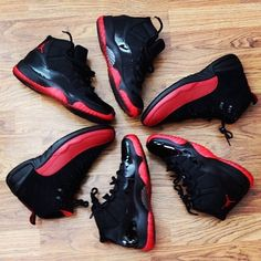 super popular 0abf4 5bb2b Jordan retro 12s and 11s dope black and red beast colorway Onda Retro Jordan,  Jordan