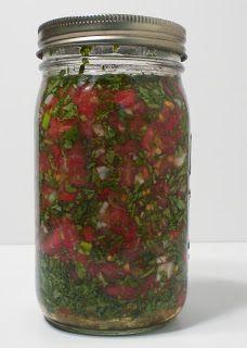 Fermented Cilantro Salsa for Chelation: nourishing traditions