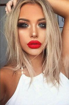 A red lip never fails