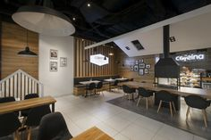 Cafeina Café by mode:lina at Mallwowa Shopping Mall, Skórzewo – Poland » Retail Design Blog