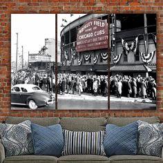 Chicago Cubs Wrigley Field 1945 World Series Canvas - Canvas Wall Art - HolyCowCanvas