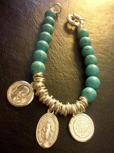 without the charmes Bead Jewellery, Wire Jewelry, Jewelry Crafts, Beaded Jewelry, Jewelery, Jewelry Bracelets, Handmade Jewelry, Diy Schmuck, Schmuck Design