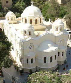 Saint Mary Zeitoun Church In Egypt Sacred Architecture, Church Architecture, Religious Architecture, Egypt Travel, Place Of Worship, Mosque, Taj Mahal, Cathedral, Saints