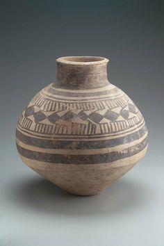 Ovoid jar with a wide neck.  Near Eastern, Iranian, Prehistoric, 5th millennium B.C.
