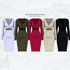 Bodycon Bandage Dress for The Sims 4 Sims 4 Mods Clothes, Sims 4 Clothing, Sims 4 Black Hair, Sims 4 Collections, Sims 4 Dresses, Sims4 Clothes, Sims 4 Game Mods, Sims 4 Cc Packs, The Sims4