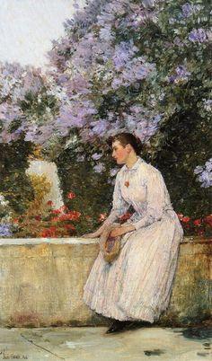 in the garden, frederick childe hassam