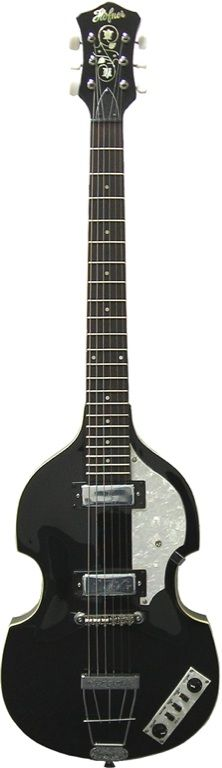 Hofner, the German mfg know for it's Beatle bass also offered violin shaped six string guitars in the 60's.
