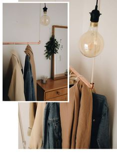Wardrobe Rack, Room Inspiration, Interior, Furniture, Home Decor, Homes, Coat Storage, Copper, Life