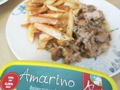 Pork herb with Amarino and potatoes Fresh Thyme, Fried Potatoes, Fries, Herbs, Beef, Stuffed Peppers, Baking, Food, Bakken