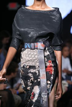 Donna Karan Spring 2015 Ready-to-Wear collection, embroidered skirt