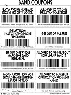 Our band needs these. 8531 Santa Monica Blvd West Hollywo humor Our band needs these. Funny Band Memes, Marching Band Memes, Marching Band Problems, Memes Humor, Marching Band Couples, Music Jokes, Music Humor, Funny Music, Flute Jokes