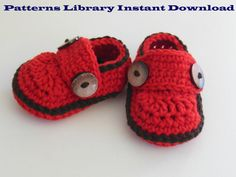 Crochet Pattern baby Booties baby shoes by patternslibrary on Etsy, $4.50
