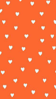 Iphone Wallpaper Orange, Wallpaper Color, Apple Watch Wallpaper, Flower Phone Wallpaper, Heart Wallpaper, Print Wallpaper, Cute Wallpaper Backgrounds, Tumblr Wallpaper, Colorful Wallpaper