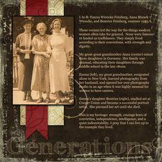 Generations - Heritage Family - Gallery - Scrap Girls Digital Scrapbooking Forum