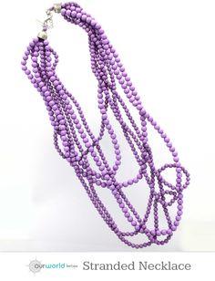 Violet Tulip Stranded Statement Necklace