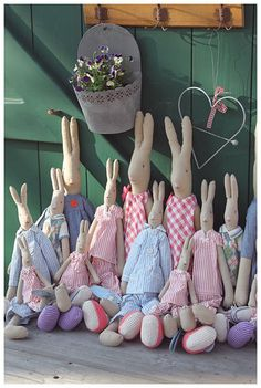 its a whole school of bunnys!