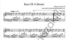 Keys Of A Dream - Piano Sheet Music now available on ErnestoCortazar.net Free Music Streaming, Online Music Stores, Piano Sheet Music, Keys, Words, Unique Key, Piano Score, Sheet Music For Piano, Human Height