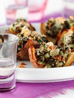 Loaded Potato Skins    Even these treats can be healthy!