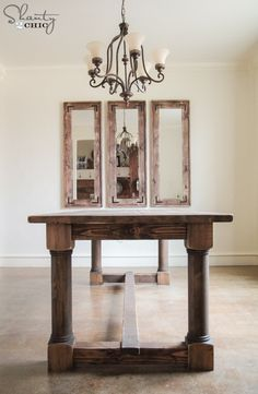 LOVE this table. Free plans and tutorial to build it at www.shanty-2-chic.com!!
