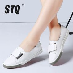 Cheap women flats, Buy Quality white oxford directly from China oxfords for women Suppliers: STQ 2018 Spring women flats ladies slip on flat loafers shoes casual sneakers boat shoes black white oxfords for women shoes 718 Casual Sneakers, Casual Shoes, Shoes Sneakers, Women's Shoes, Shoes Style, Oxford White, Mocassins, Kinds Of Shoes, Ladies Slips