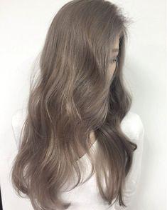 Ash Hair, Ash Blonde Hair, Brown Blonde Hair, Light Brown Hair, Brunette Hair, Korean Hair Color, Balayage Ombré, Pinterest Hair, Aesthetic Hair