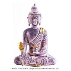 Medizin Buddha Messing 15,5 cm 1,2 kg im Stone Finish Style Mit der Medizin Buddha Mantra Praxis kommt du in deine positives Mindset #lichterleben