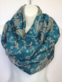 pashmina infinity scarf loop scarf circle scarf  by ScarvesScene