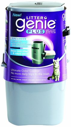 amazoncom litter genie plus cat litter disposal system with odor free pail system silver litter boxes pet supplies arena kitty litter box
